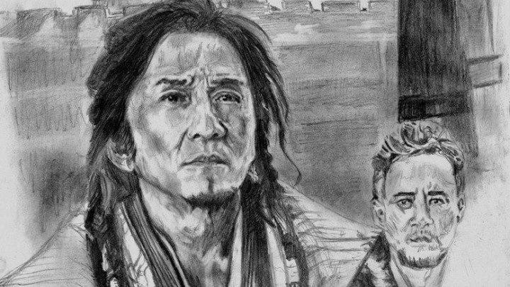 Ускоренная отрисовка портрета Джеки Чана