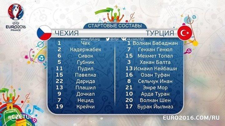 Обзор матча ЧЕ 2016 Группа D Чехия 0-2 Турция