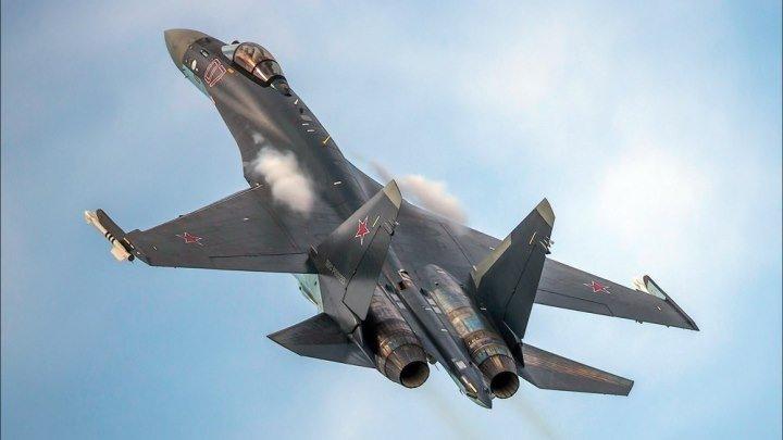 Су-35С (Flanker-Е+) Фигуры высшего пилотажа (4К)