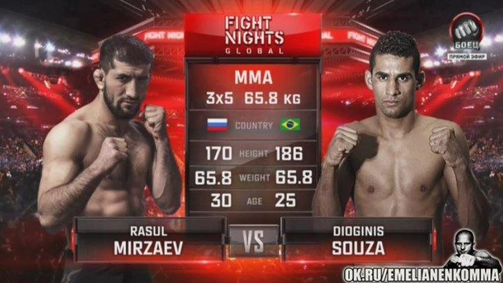 Расул Мирзаев vs. Диогинис Соуза. FIGHT NIGHTS GLOBAL 50.