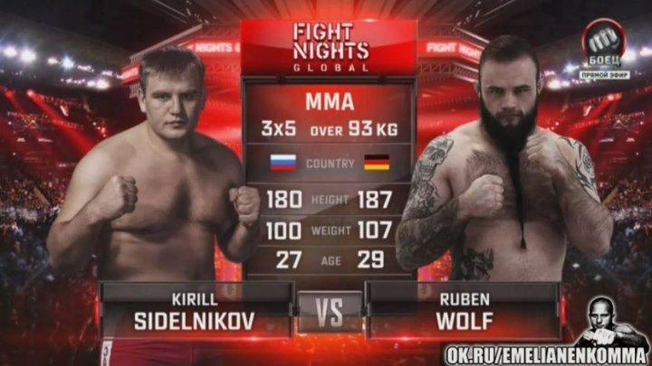 Кирилл Сидельников vs. Рубен Вольф. FIGHT NIGHTS GLOBAL 50.