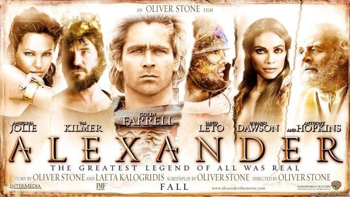 Александр (2004) приключения, исторический, драма, военный, HDRip от Scarabey D Театр-ая версия Колин Фаррелл, Э.Хопкинс, А.Джоли