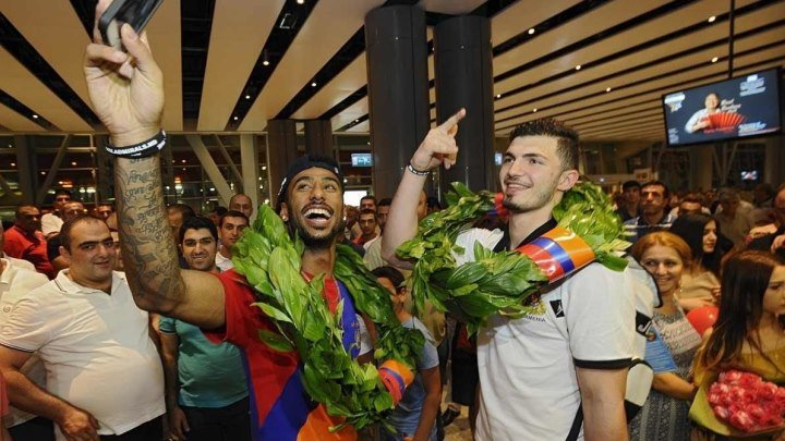 Сборная Армении по баскетболу вернулась с победой на чемпионате Европы среди малых стран