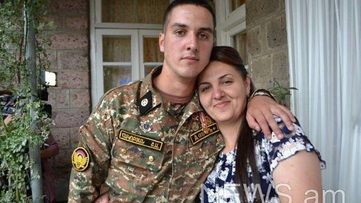 30 րոպեում հակառակորդի 3 տանկ խոցած Շուլին բանակից վերադարձավ տուն-Подбивший три азербайджанских танка солдат и получивший за проявленный героизм медаль «За мужество» второй степени возвратился домой.
