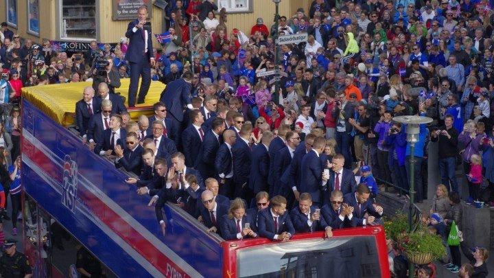 Как встречают Сборную Исландию дома Евро2016