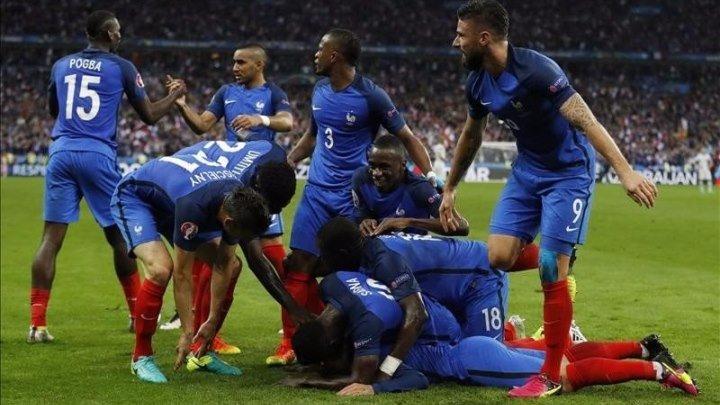7 мячей и Франция шагает в полуфинал Франция 5-2 Исландия Голы: Жиру, 12', 59' Погба, 20', Пайе, 43', Гризманн, 45' - Сигторссон, 56', Бьярнасон, 84'