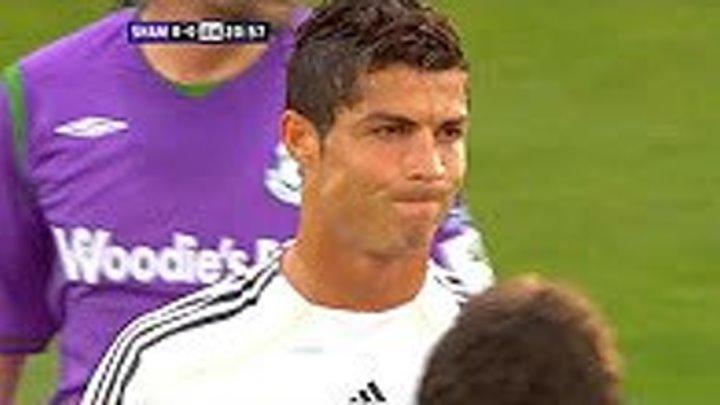 Первый матч Криштиану Роналду за Реал Мадрид