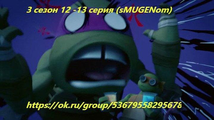 Черепашки Ниндзя 3 сезон 12-13 серия (MUG)