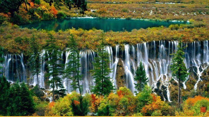 Китайская Жемчужина - долина Цзючжайгоу.【Live China】The Magnificent Scenery of Jiuzhaigou Valley National Park
