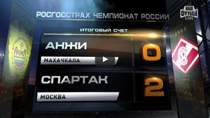 Обзор матча Футбол. РФПЛ. 5-й тур. Анжи - Спартак 0 2