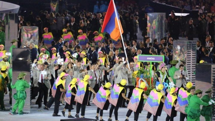 Сборная Армении на торжественном открытии Олимпийских игр в РИО