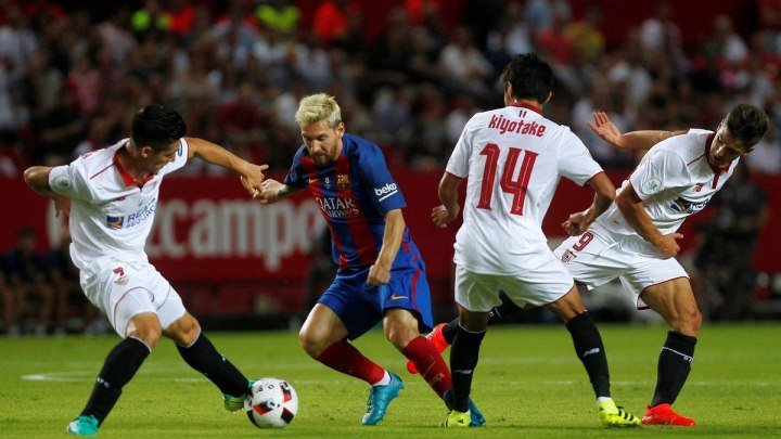 Севилья - Барселона 0-2 Суперкубок Испании (1 матч)