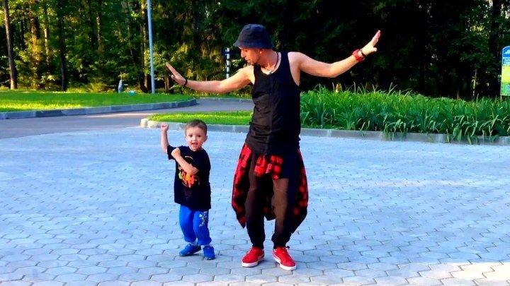 Папа танцует со своими детьми // DANCE CRAFT Studio