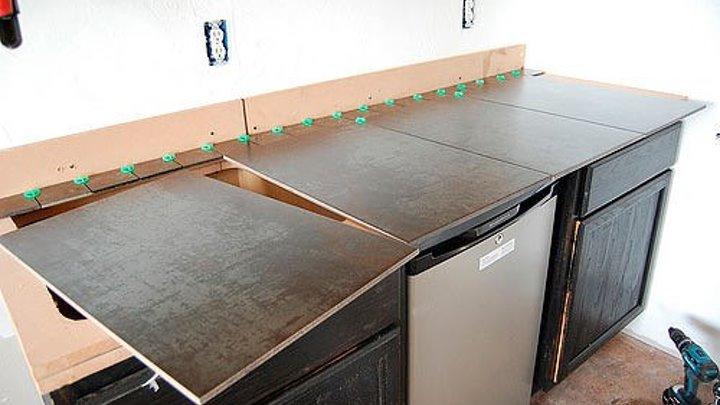Кухонная столешница из плитки