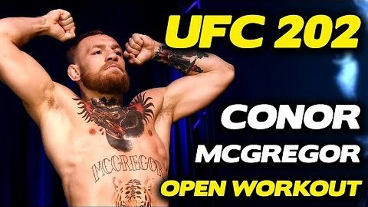 UFC 202- Conor McGregor Works Out, Cusses out Diaz Brothers!