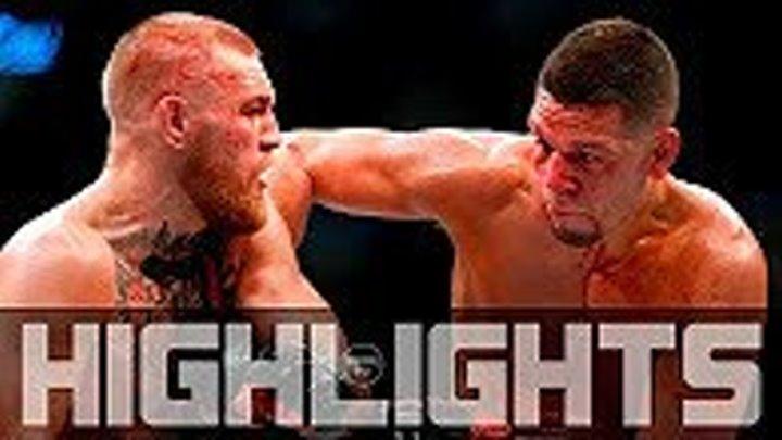 Conor McGregor vs Nate Diaz 2 - Fight Highlights - Конор МакГрегор vs Нейт Диас - Лучшие Моменты Боя