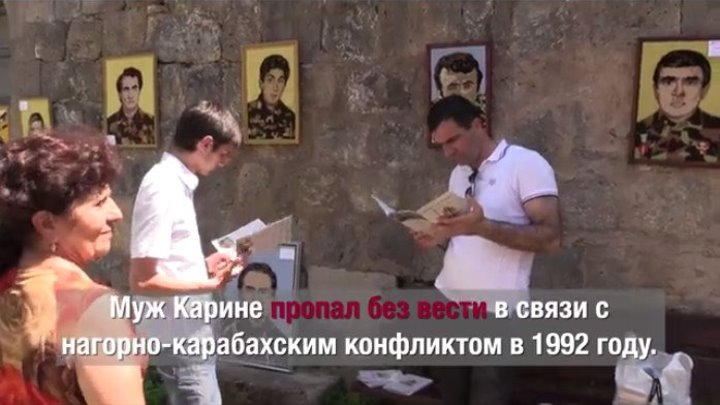 Армения: женщины вышили картины в память о пропавших без вести мужьях