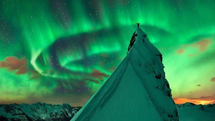 Дикая красота Норвегии за 5 минут. Северное сияние на краю земли! NORWAY