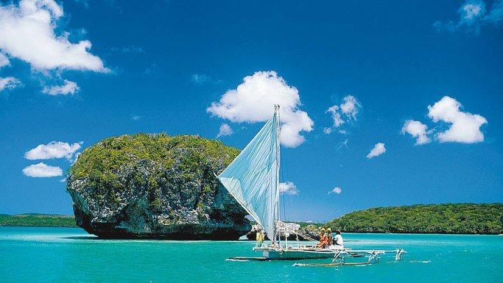 Новая Каледония! Башню сносит... Белоснежный песок и лазурное море! New Caledonia Drone