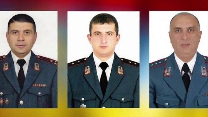 Имена полицейских, погибших при захвате полка ППС в Ереване, увековечены на памятном мемориале