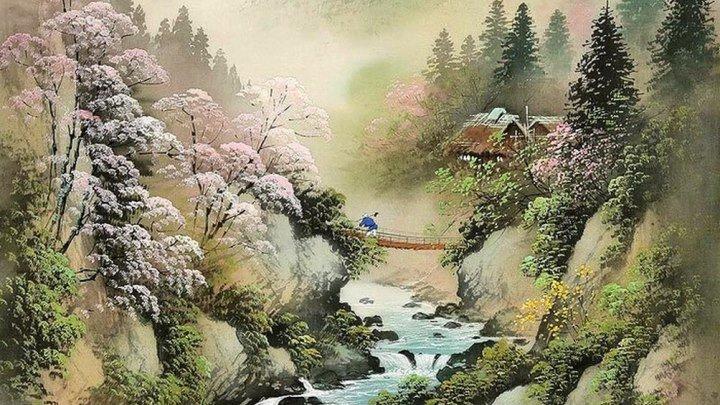 Осень. Коукеи Кодзима – японский художник-пейзажист.