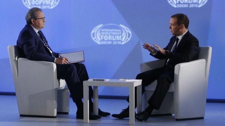 Интервью Дмитрия Медведева программе «Воскресное время» Первого канала 02.10.16