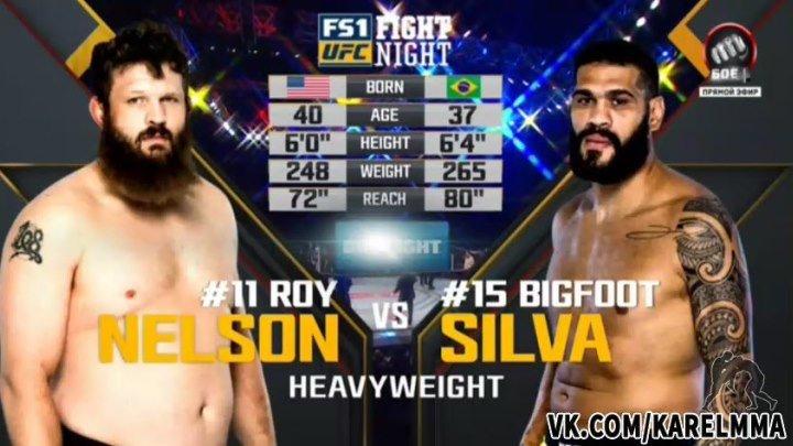Рой Нельсон vs. Антонио Сильва. UFN 95.