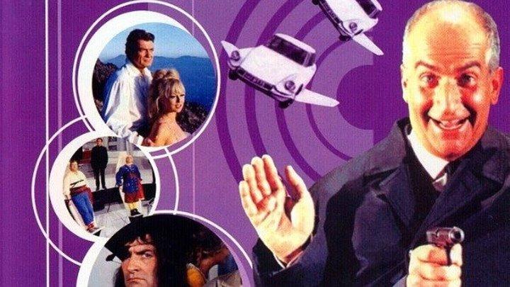 Фантомас разбушевался (легендарная приключенческая комедия с Луи де Фюнесом, Жаном Маре и Милен Демонжо) | Франция-Италия, 1965