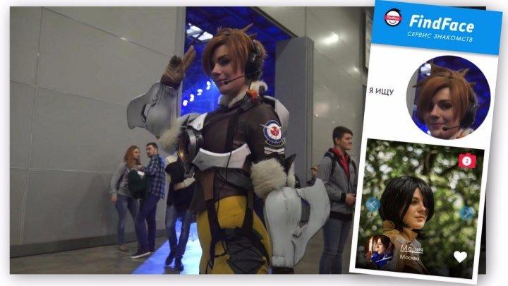Косплей на Comic Con Russia 2016 и ИгроМир. Трейсер из Овервотч. FindFace