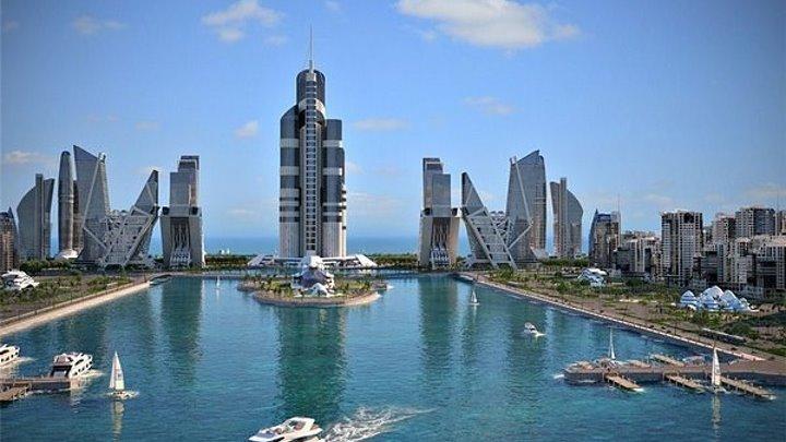 Azerbaijan Tower - в Каспийском море - Баку 2020....