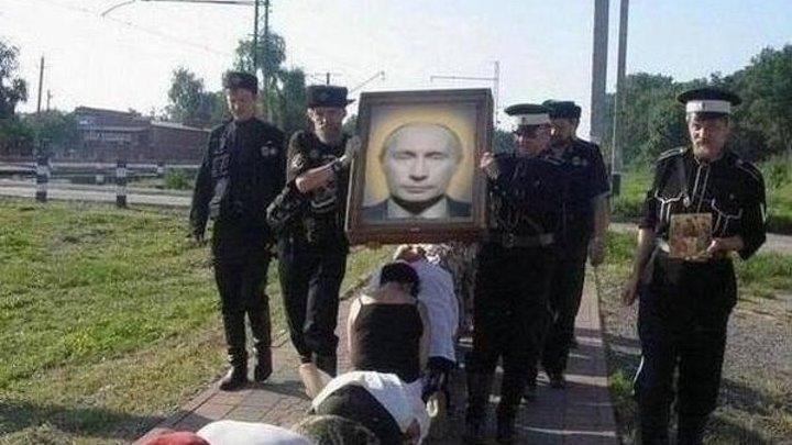 Как в русской глубинке Путина встречали!!! Нарочно не придумаешь)))