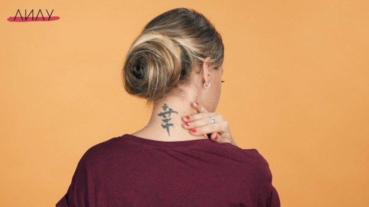 Прическа «Роза из волос»
