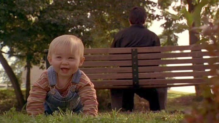 Младенец на прогулке. 1994
