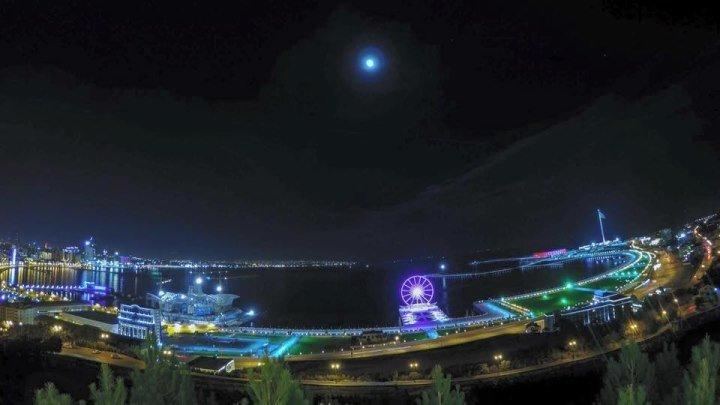 Яркие Краски Вечернего Баку - Вид со Смотровой Площадки...