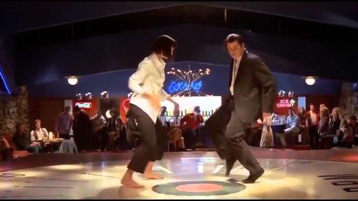 Ума Турман. Джон Траволта. Танец. 'Криминальное чтиво' Квентин Тарантино.