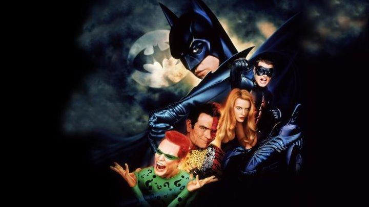 Бэтмен навсегда (приключенческий фэнтези с Вэлом Килмером, Томми Ли Джонсом, Джимом Керри, Николь Кидман) | США-Великобритания, 1995