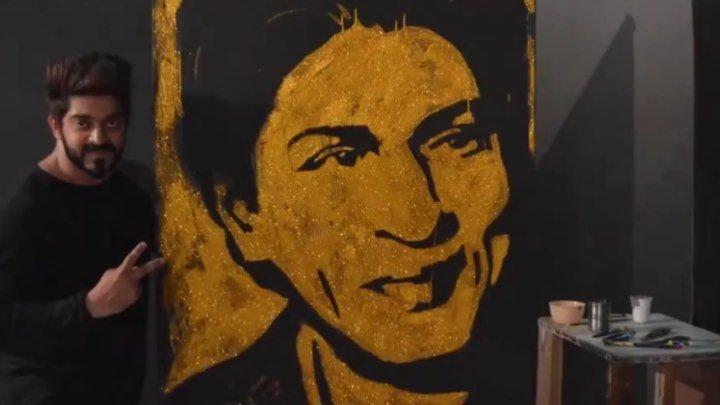 BEST SRK SKETCH BY HIS FAN ..