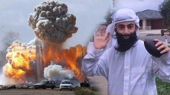 Пранк. Араб с бомбой! Супер прикол ! Full HD