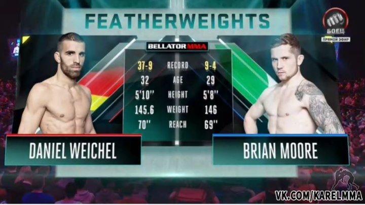 Даниэль Вайхель vs. Брайан Мур. Bellator 169.