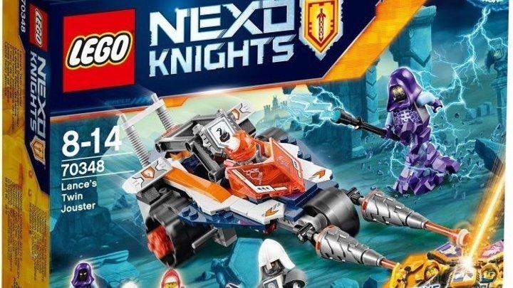 Лего Нексо Найтс 70348 Турнирная машина Ланса - Обзор LEGO Nexo Knights Lance's Twin Jouster