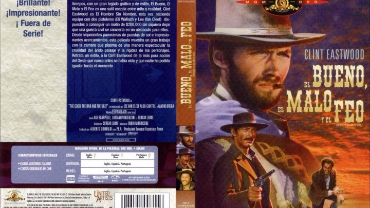 Хороший, плохой, злой (1966) Вестерн, Боевик.