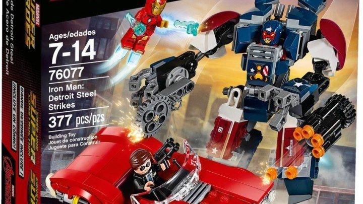 LEGO Marvel Железный человек- Стальной Детройт наносит удар (76077)