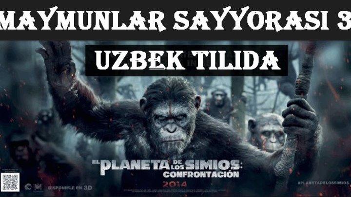Maymunlar Sayyorasi 3 - Urush (Uzbek tilida) 2017 Treyler