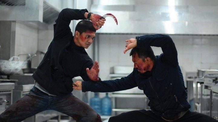 Рейд 2 (2014) Жёсткая рукопашка. Куча крови!