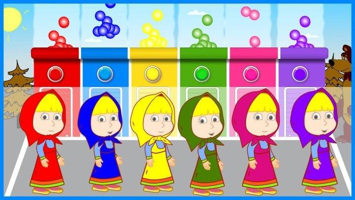 Маша и Медведь новые серии Учим цвета на русском языке