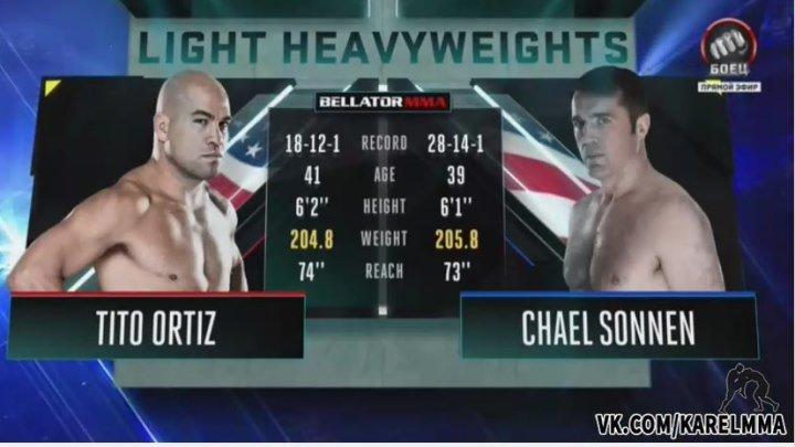 Тито Ортиз vs. Чел Соннен . Bellator 170.