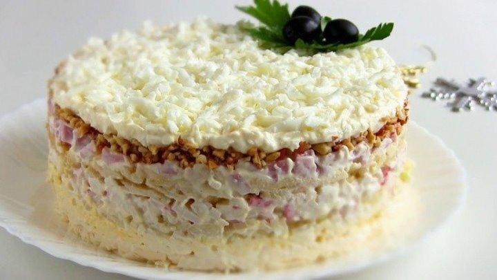 Салат ' Снежная королева' -Простой салат к праздничному столу