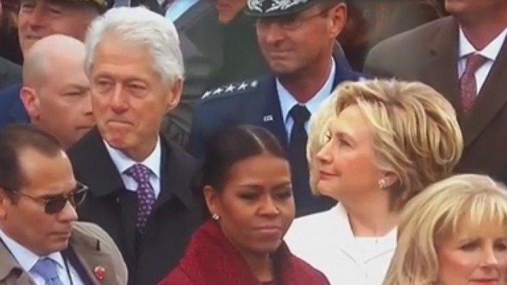 УМОРА!!! Кобель Билл Клинтон на инаугурации Трампа поедал глазами президентскую дочь!!! 20.01.2017