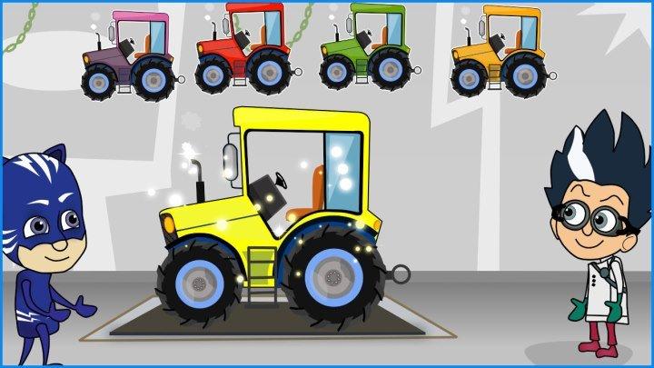 Синий Трактор . Мультики про машинки . Учим цифры . Развивающий мультик