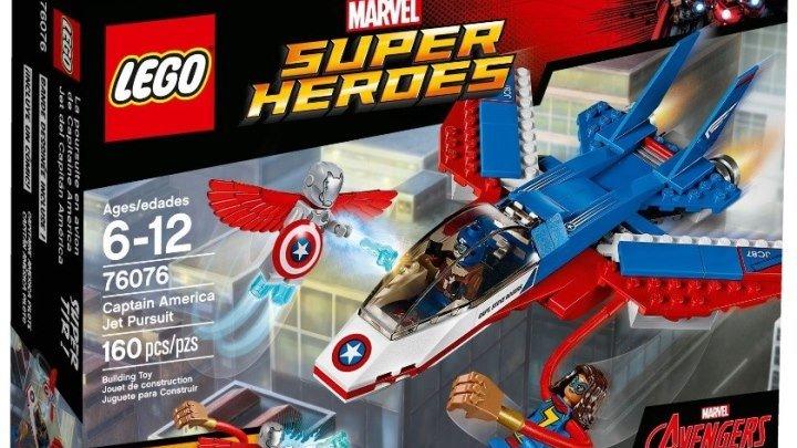Обзор LEGO Marvel 76076 Воздушная погоня Капитана Америка Набор Лего Супергерои 2017